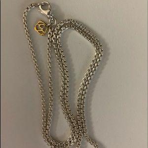 David yurman 2.7mm sterling & 14k gold box chain